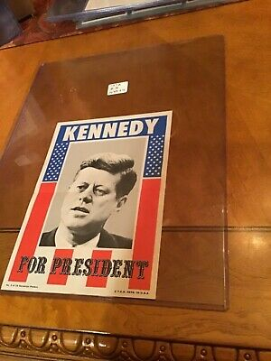 1972 Topps Campaign Posters #3 John F. Kennedy