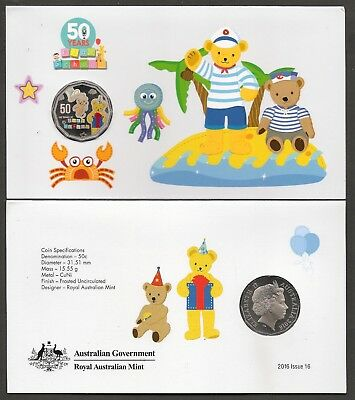 2016 50 Cents Play School Coloured Coin Uncirculated