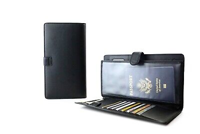 Passport Holder Multi-Purpose Travel Wallet Organizer & RFID-Blocking Cover