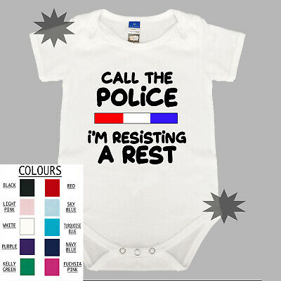 CALL THE POLICE Unisex Cotton Baby One Piece Funny Gift Romper