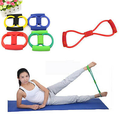 Resistance Training Bands Rope Tube Workout Exercise For Yoga 8 Type Hot