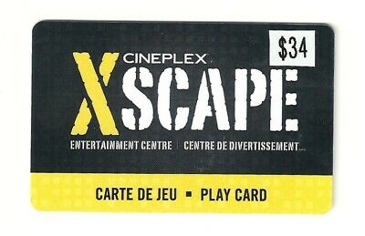 Cineplex Xscape Entertainment Centre Play Card with a $34 Balance for Half Price