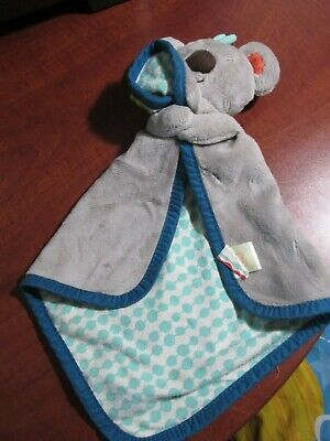 B. Toys Battat Snugglies Gray Koala Bear Koko Dot Security Blanket Baby Lovey