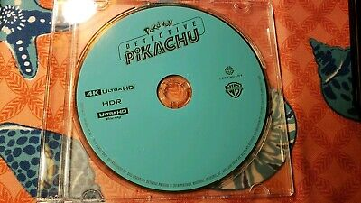 Brand New 2019 Pokemon Detective Pikachu Live Action 4K UHD Blu Ray Disc Only