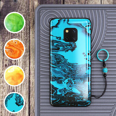 GKK For Huawei Mate 20 Pro Antique Style Curved Tempered Glass Back Case Cover