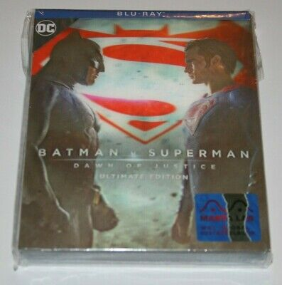 BATMAN v SUPERMAN 2-DISCS BLU RAY + ULTIMATE EDITION STEELBOOK MANTA LAB MG#2