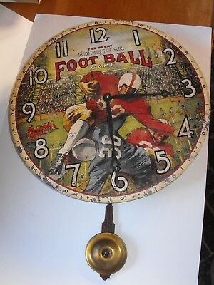 Rare Timeworks American Football Pendulum Wall Clock in box Great for Game room