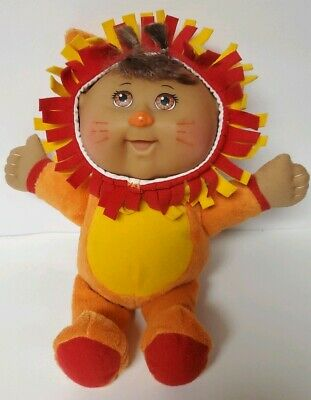 CPK Cabbage Patch Kids Cuties - Austin Orange Lion  - Animal Zoo Friends 9""