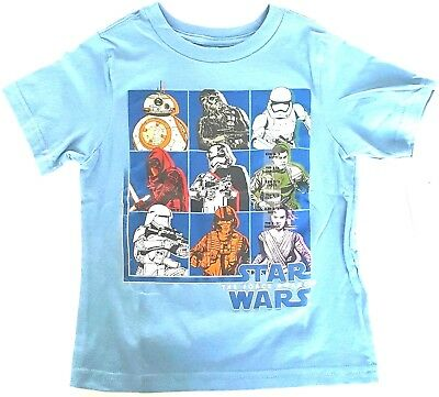 Disney Store Toddler Boy Size XXS 2-3 Blue T Shirt Star Wars The Force Awakens