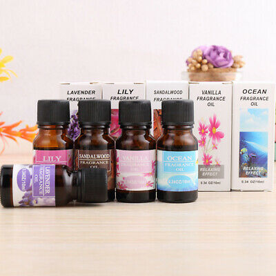 Natural 10ml Essential Oils Pure Aromatherapy Essential Oil Fragrance Aroma 1P