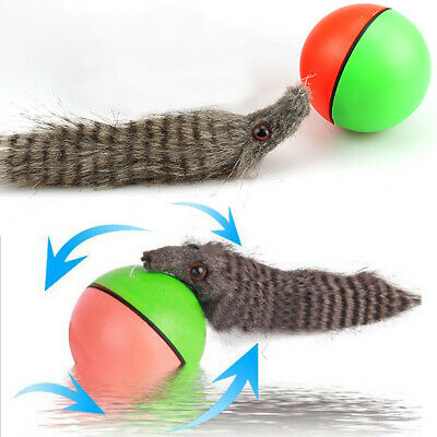 Dog/Cat Weasel Appears Pet Toy Funny 8x21cm New! Motorized Rolling Ball Moving