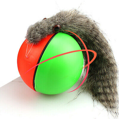 Dog/Cat Motorized Pet Toy Funny Moving Appears Rolling Ball 8x21cm Weasel New!