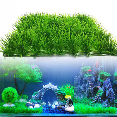 Artificial Fish Tank Plant Landscap Water Aquatic Aquarium Fake Grass Decor Lawn