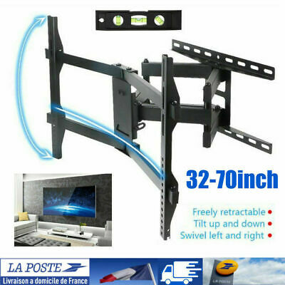 "Support TV mural orientable et inclinable 32"" - 70"" 40  50 52 LCD Écran incurvé"