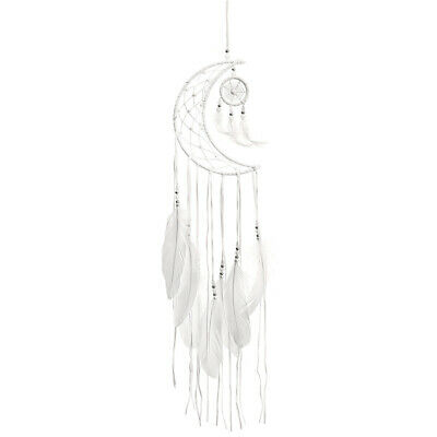 Moon Dreamcatcher Handmade Dream Catcher Net With Feathers Home Wall Hangin Y5Y5