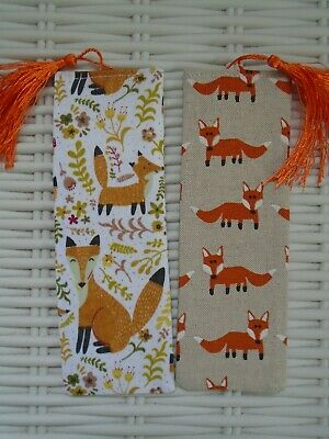 Pack Of Two Fox Bookmarks Bookmark Foxes Countryside Gift Reading Books Unique