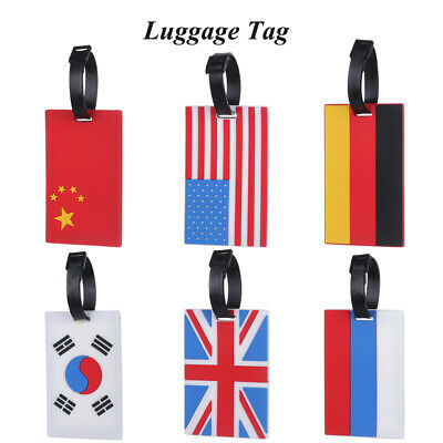 Silicone National Flag Luggage Tag Travel Tags Baggage Boarding Portable Label