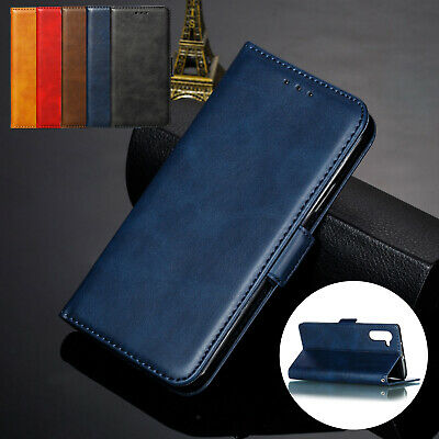 Leather Case For Samsung Note 10 + S10 S9 Magnet Card Wallet Flip Stand Cover