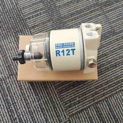 Set Brand New For R12T Boat Marine Spin-on Fuel Filter / Water Separator 120AT