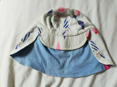 Joules Baby Girls 0-6 Months protection Hat Summer Ice Creams reversible