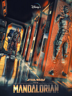 "The Mandalorian Poster 32x24"" TV Series Star Wars 2019 Print Silk"