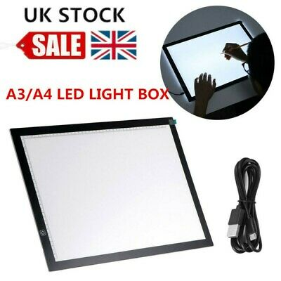 A3 A4 LED Ultra Slim Art Craft Drawing Copy Tracing Light Box Pad with USB Cable