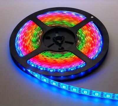 digitaler LED RGB NeoPixel Stripe IP65 vergossen 60 LEDs/m Meterware schwarz