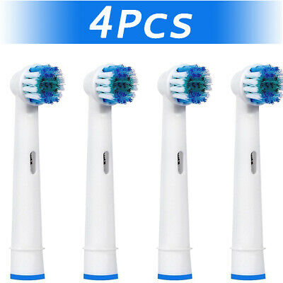 4 Toothbrush Heads Replacement Brush Fits For Braun Oral B Precision Cleaner Kit