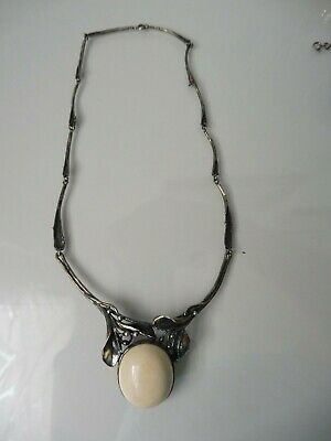 Very Beautiful, Old Chain (Necklace) , 925 Silver, with White Stone