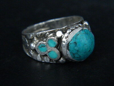 Antique Silver Ring With Stones 1900 AD #STC514