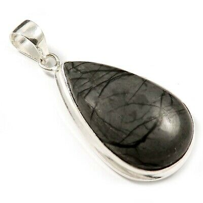 Picasso Jasper Natural Gemstone Pendant Silver Plated Jewelry GPAA39