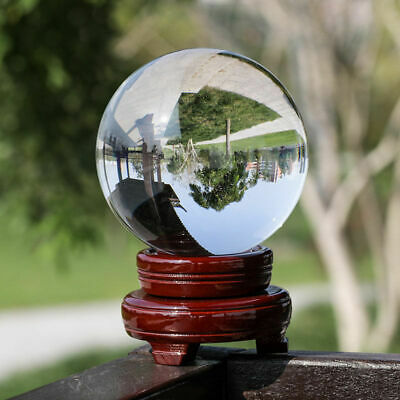 Clear Glass Crystal Ball Healing Sphere Photography Props Lensball 60-100mm