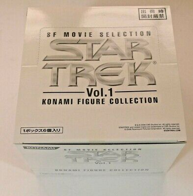 Star Trek Konami Figure Collection SF Movie Selection Vol.1 BNIB from Japan.