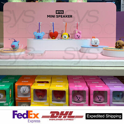BTS BT21 Official Authentic Goods Bluetooth Mini Speaker + Express Ship