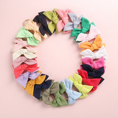 Baby Kids Toddler Soft Cotton Bow Tie Ring Nylon Headband Girls Hair Accessories