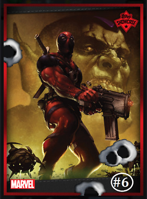 Topps Marvel Collect Card Trader Showcase Deadpool #6 [Digital]