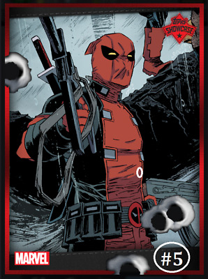 Topps Marvel Collect Card Trader Showcase Deadpool #5 [Digital]