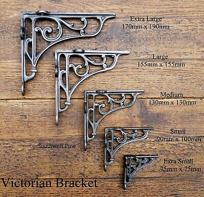 Antique Victorian Style Cast Iron-Shelf Brackets -Choice Of Size x 1 Bracket