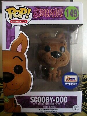 Funko Pop! Animation #149 Flocked Scooby Doo (Gemini Collectibles Exclusive)