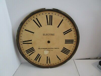 Standard Electric Time Co. Clock Dial  - #D-10