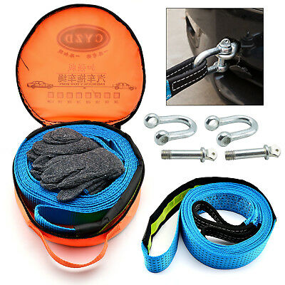 8T Ton Heavy Duty Tow Rope Pull Strap Winch Tree Strop 4x4 Offroad Recovery UK