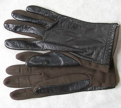 Gloves WOMENS Vintage Retro 1970s LEATHER