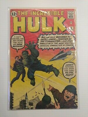 Incredible Hulk (1st Series) #3 Ungraded FN 6.0 Fine Not CGC