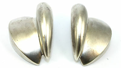 BIG Vtg Modernist BAYANIHAN Sterling Silver SCANDINAVIAN Style Earrings PIERCED