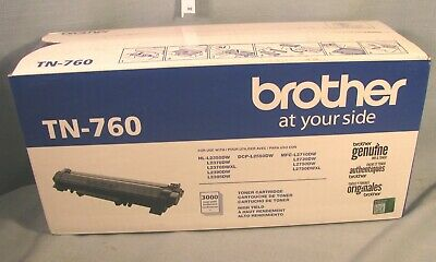 Genuine Brother Tn-760 - High Yield Black Toner Cartridge Tn760 - Free Shipping