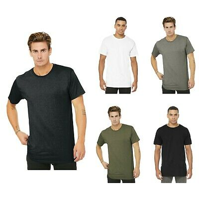 Bella+Canvas pour Hommes Long Corps Urban Haut T-Shirt Arrondi Goutte Queue