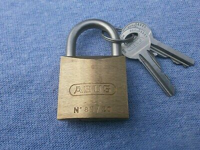 ABUS 85/30 30mm Padlock. Brass. German. Hardened Shackle. Unused, Old Stock