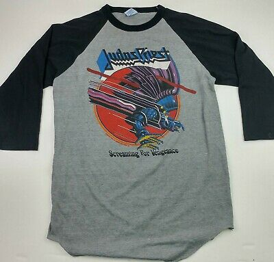 Vintage 80s Judas Priest Screaming For Vengeance Tour 82-83 Concert Tee Shirt L