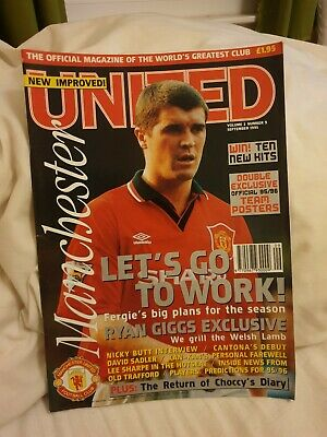 Vol 3 No 9 Manchester United Official Magazine September 1995 in mint condition