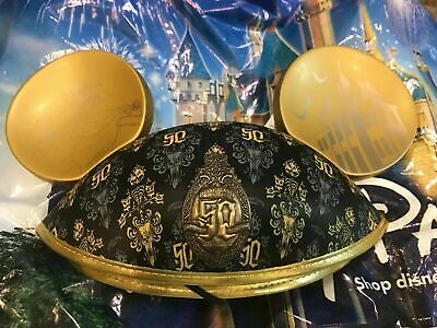 Disney Disneyland Haunted Mansion 50th Anniversary Mickey Mouse Ear Hat In Hand